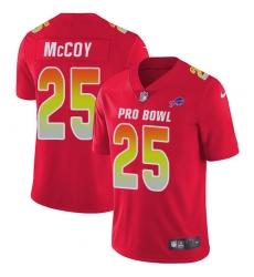 Men's Nike Buffalo Bills #25 LeSean McCoy Limited Red 2018 Pro Bowl NFL Jersey