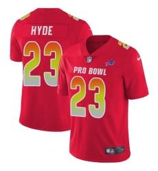 Women's Nike Buffalo Bills #23 Micah Hyde Limited Red 2018 Pro Bowl NFL Jersey