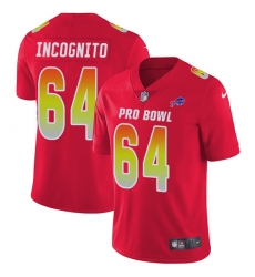 Women's Nike Buffalo Bills #64 Richie Incognito Limited Red 2018 Pro Bowl NFL Jersey