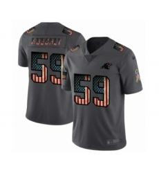 Men's Carolina Panthers #59 Luke Kuechly Limited Black USA Flag 2019 Salute To Service Football Jersey
