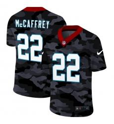 Men's Carolina Panthers #22 Christian McCaffrey Camo 2020 Nike Limited Jersey