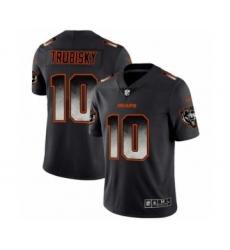 Men's Chicago Bears #10 Mitchell Trubisky Black Smoke Fashion Limited Jersey