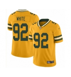 Men's Green Bay Packers #92 Reggie White Limited Gold Inverted Legend Football Jersey