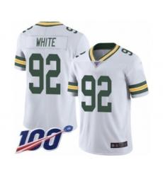Men's Green Bay Packers #92 Reggie White Vapor Untouchable Limited Player 100th Season Football Jersey
