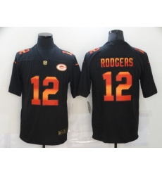 Men's Green Bay Packers #12 Aaron Rodgers Black colorful Nike Limited Jersey