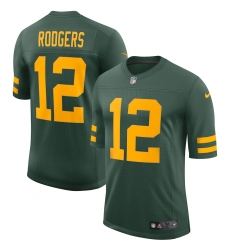 Men's Green Bay Packers #12 Aaron Rodgers Nike Green Alternate Vapor Limited Player Jersey