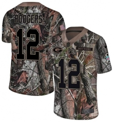 Men's Nike Green Bay Packers #12 Aaron Rodgers Limited Camo Rush Realtree NFL Jersey