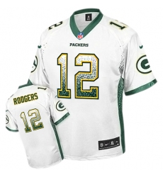Youth Nike Green Bay Packers #12 Aaron Rodgers Elite White Drift Fashion NFL Jersey