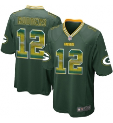 Youth Nike Green Bay Packers #12 Aaron Rodgers Limited Green Strobe NFL Jersey
