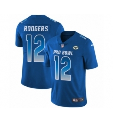 Youth Nike Green Bay Packers #12 Aaron Rodgers Limited Royal Blue NFC 2019 Pro Bowl NFL Jersey