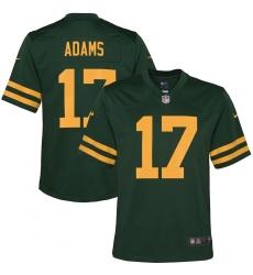 Youth Green Bay Packers #17 Davante Adams Nike Green Alternate Game Player Jersey