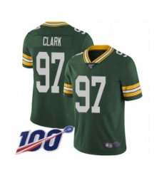 Men's Green Bay Packers #97 Kenny Clark Green Team Color Vapor Untouchable Limited Player 100th Season Football Jersey