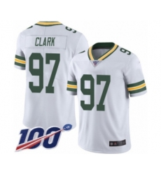 Men's Green Bay Packers #97 Kenny Clark White Vapor Untouchable Limited Player 100th Season Football Jersey
