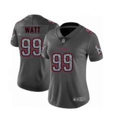 Women's Houston Texans #99 J.J. Watt Limited Gray Static Fashion Football Jersey