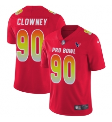Men's Nike Houston Texans #90 Jadeveon Clowney Limited Red 2018 Pro Bowl NFL Jersey