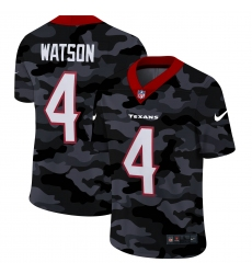 Men's Houston Texans #4 Deshaun Watson Camo 2020 Nike Limited Jersey