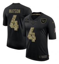 Men's Houston Texans #4 Deshaun Watson Camo 2020 Salute To Service Limited Jersey