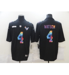 Men's Houston Texans #4 Deshaun Watson Rainbow Version Nike Limited Jersey