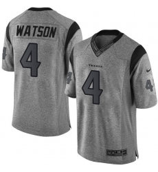 Men's Nike Houston Texans #4 Deshaun Watson Limited Gray Gridiron NFL Jersey