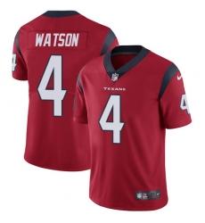 Men's Nike Houston Texans #4 Deshaun Watson Limited Red Alternate Vapor Untouchable NFL Jersey