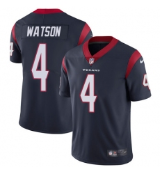 Youth Nike Houston Texans #4 Deshaun Watson Limited Navy Blue Team Color Vapor Untouchable NFL Jersey