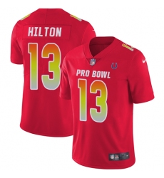 Men's Nike Indianapolis Colts #13 T.Y. Hilton Limited Red 2018 Pro Bowl NFL Jersey