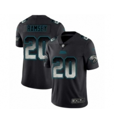 Men's Jacksonville Jaguars #20 Jalen Ramsey Limited Black Smoke Fashion Football Jersey