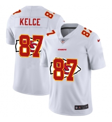 Men's Kansas City Chiefs #87 Travis Kelce White Nike White Shadow Edition Limited Jersey
