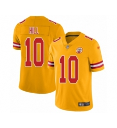 Youth Kansas City Chiefs #10 Tyreek Hill Limited Gold Inverted Legend Football Jersey