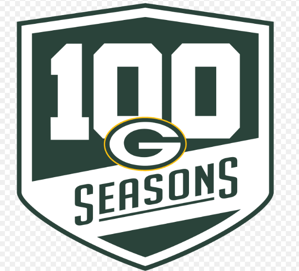 Green Bay Packers 100th Season Logo Patch